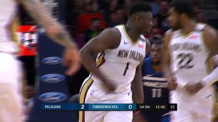 Melhores Momentos: New Orleans Pelicans 120 x 107 Minnesota Timberwolves