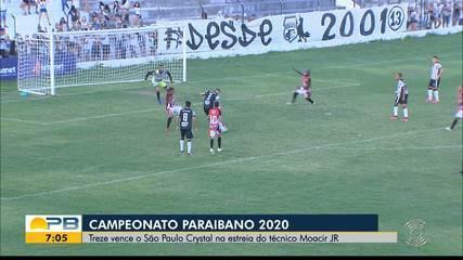 Treze 1 x 0 São Paulo Crystal, pela rodada #7 do Paraibano