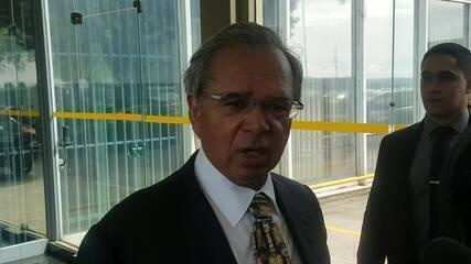 Ministro da Economia, Paulo Guedes, comenta turbulências no mercado financeiro e medidas a ser tomadas pelo governo
