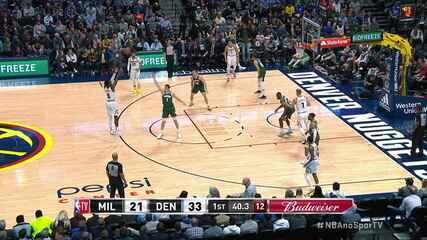 Melhores momentos de Denver Nuggets 109 x 95 Milwaukee Bucks pela NBA