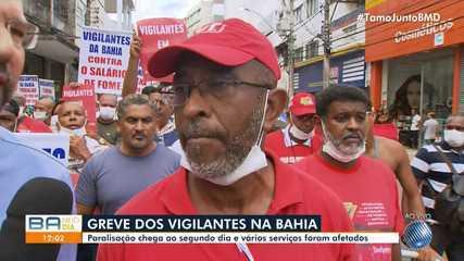 Greve dos vigilantes na Bahia: serviços bancários são afetados em Salvador