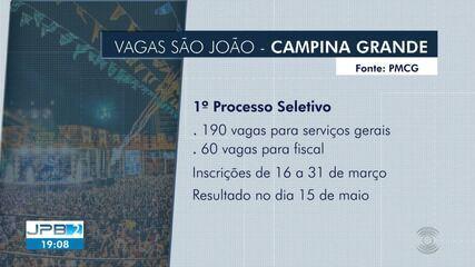 290 vagas de emprego são ofertadas para o São João, em Campina Grande