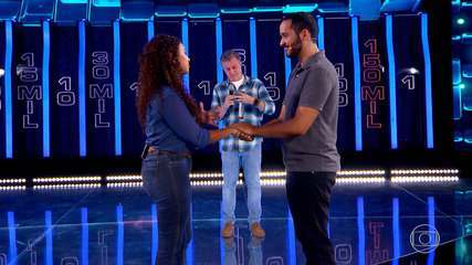 Fernanda e Julian descobrem o valor que conseguiram no 'The Wall'