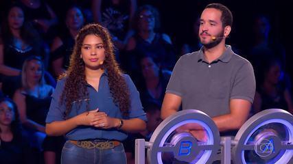 Fernanda e Julian tentam levar o prêmio do 'The Wall'