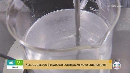 Veja como é feito o álcool em gel