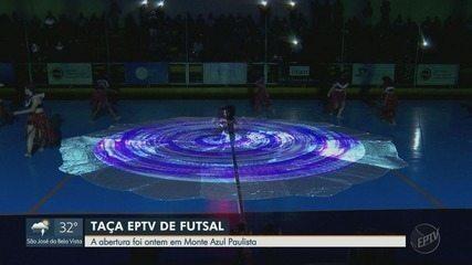 Taça EPTV de Futsal começa em Monte Azul Paulista, SP