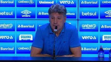 Confira a entrevista coletiva do técnico Renato Gaúcho após Grêmio 3x2 São Luiz