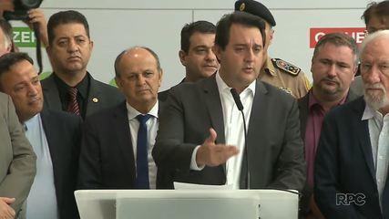 Governador Ratinho Junior anuncia medidas para conter a propagação do coronavírus