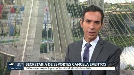 Secretaria de Esportes de SP suspende calendário de competições