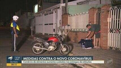 Com pandemia de coronavírus, delivery tem aumento de pedidos em restaurantes de Campinas