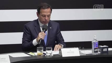 Doria lê propostas de governadores contra a expansão do coronavírus