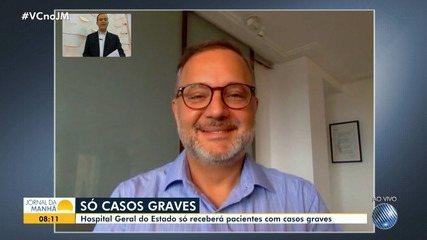 Secretário de Saúde comenta número de casos e ações de combate ao coronavírus na Bahia