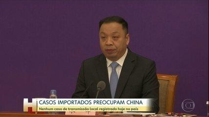 China não registra novo caso de transmissão local do coronavírus