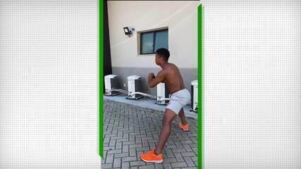 Juninho, do Vasco, mantém rotina de exercícios em casa