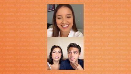 Rayssa Bratillieri e André Luiz Frambach falam da reta final de 'Éramos Seis'