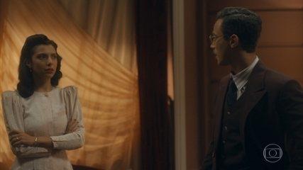 Julinho discute com Soraia por ter escondido o telegrama