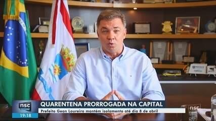 Prefeitura de Florianópolis prorroga quarentena até 8 de abril; especialista valia