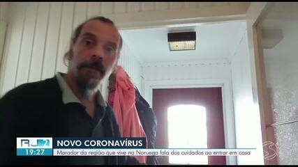 Brasileiro que está na Noruega fala sobre os cuidados com a Covid-19 no país europeu no início da pandemia, em março de 2020