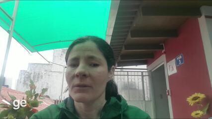 Raquel Viel comenta situação de nadadores no Equador