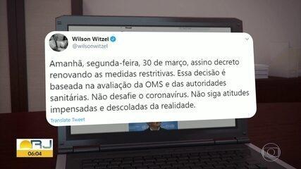 Rio terá quarentena prorrogada