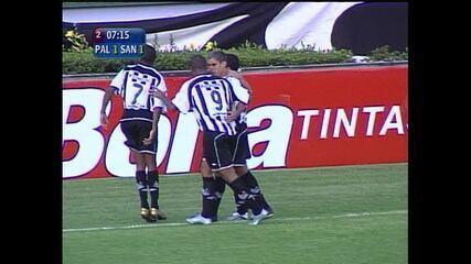 Os gols de Palmeiras 3 x 1 Santos pelo Campeonato Paulista de 2005