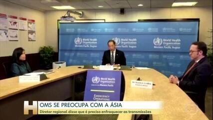 OMS diz que pandemia não vai enfraquecer na Ásia se não enfraquecerem as transmissões