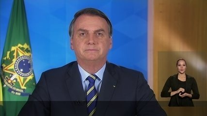 Jair Bolsonaro faz pronunciamento sobre a Covid-19