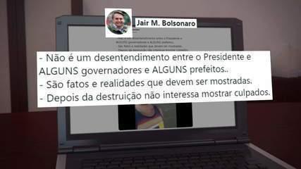 Jair Bolsonaro posta vídeo sobre desabastecimento que não condiz com a realidade