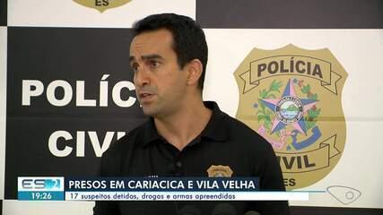Polícia prende mais de 10 suspeitos de crimes violentos na Grande Vitória