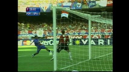 Em 2005, Clodoaldo marca o único gol da partida pelo Fortaleza contra o São Paulo