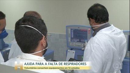 Governo se preocupa com a falta de respiradores para as UTIs