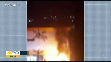 incêndio atinge empresa na avenida João Paulo II