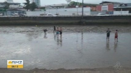 Guarda Municipal flagra grandes concentrações de pessoas na orla de Macapá