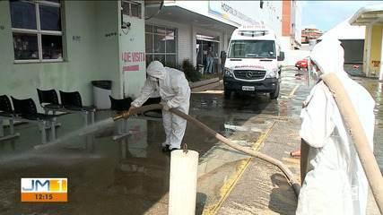 Militares do Exército participam de força tarefa para higienizar hospitais de São Luís