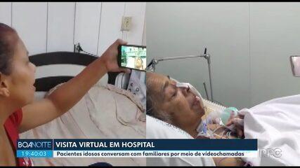 Hospital organiza visita virtual para diminuir a distância entre pacientes e familiares