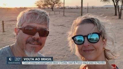 Casal de Ribeirão Preto que estava no Caribe consegue embarcar para o Brasil