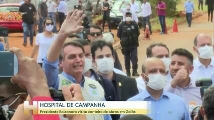 Presidente Bolsonaro visita canteiro de obras em Goiás