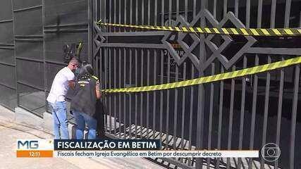 Igreja evangélica é fechada por fiscais municipais, em Betim