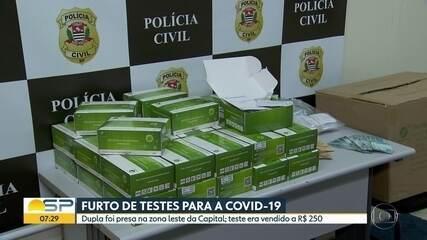 Dois homens são presos suspeitos de vender testes rápidos de coronavírus