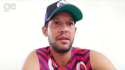 Raphael Freitas, do Picos, agradece doação de cestas básicas para atletas