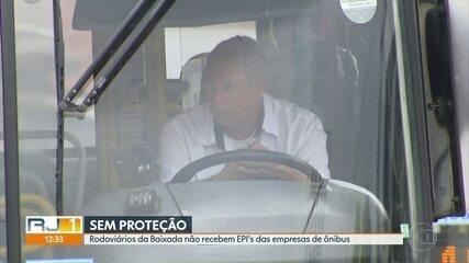 Rodoviários da Baixada não recebem EPIs das empresas de ônibus
