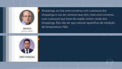 Governador Ibaneis Rocha avalia abertura de parte do comércio em maio