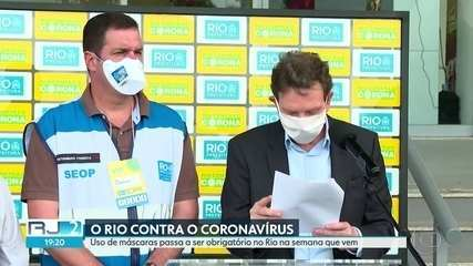 Prefeito Crivella anuncia uso obrigatório de máscaras
