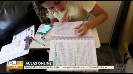 Nem todos os estudantes da rede estadual conseguem acessar o ensino à distância