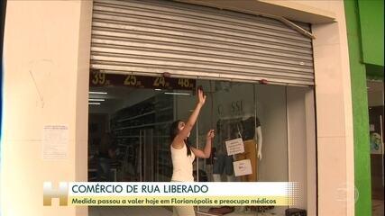 Coronavírus: Prefeitura de Florianópolis libera o comércio de rua na cidade