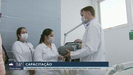 Fisioterapeutas recebem treinamento para atuar no hospital de campanha em Varginha