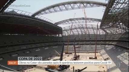 Pandemia começa a afetar as obras da Copa do Mundo de 2022, no Catar