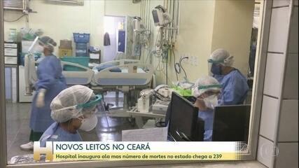Novos leitos de UTI são entregues no Ceará mas a taxa de lotação ainda é alta