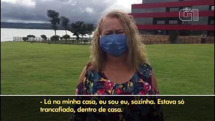 Idosos falam como está sendo isolamento em hotel de Brasília