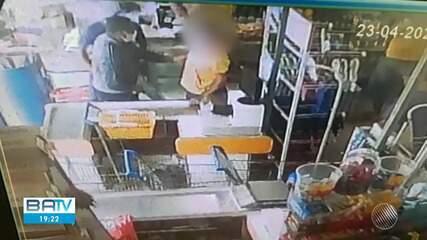 Policial Militar é baleado em um supermercado no bairro de Luís Anselmo, em Salvador